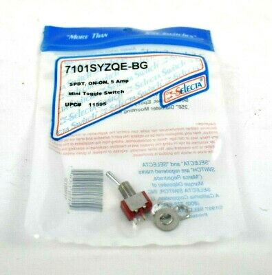 Selecta Switch 7101syzqe-bg Mini Toggle Switch On-on 5 Amp Spdt