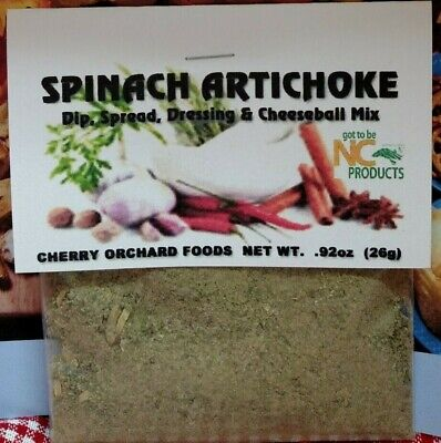 Spinach Artichoke Dip Mix, makes dips, spreads, cheese balls &salad dressings