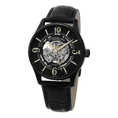 Stuhrling 992.02 992 02 Legacy Analog Automatic Skeleton Leather Mens Watch