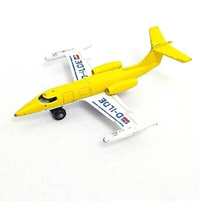 1973 Lesney Matchbox Learjet D-ILDE Jet Made in England Toy Die Cast Airplane