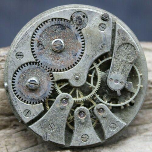 Swiss Tavannes Pocket Watch Movement 15j 4736884 39.7mm DIA GOOD BALANCE (J2Q3)
