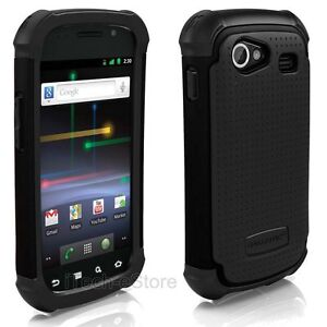 Samsung Google Nexus S 4G Ballistic Shell Gel SG Rugged Case Cover Sheild Black