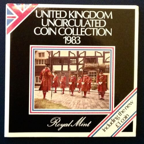 ~1983 Royal Mint Unc 8 Coin Set Coinage of Great Britain and Northern Ireland