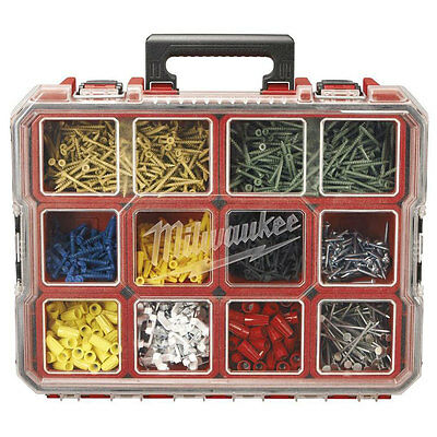 10-Compartment Pro Small Parts Organizer Garage Storage Box Screw Bolt Fuse Nail