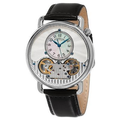 Stuhrling 693.01 693 01 Legacy Analog Mechanical Skeleton Leather Mens Watch
