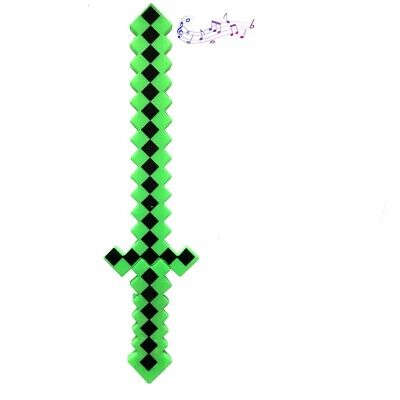 Mine craft light up Classic Pixel sword with Color Led Flashing & sound - Green