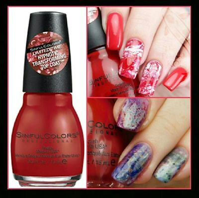 Sinful Colors 2294 Redrum Hypnotic Transforming Top Coat Nail Polish - Halloween Nail Polish Colors