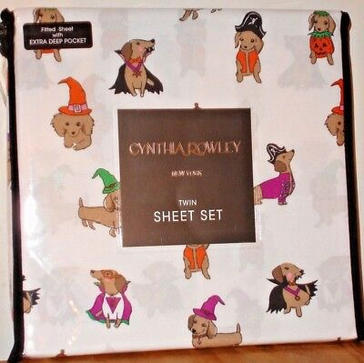 Cynthia Rowley Halloween Dachshunds in Costumes Twin Sheet Set Microfiber  - Twin Costumes