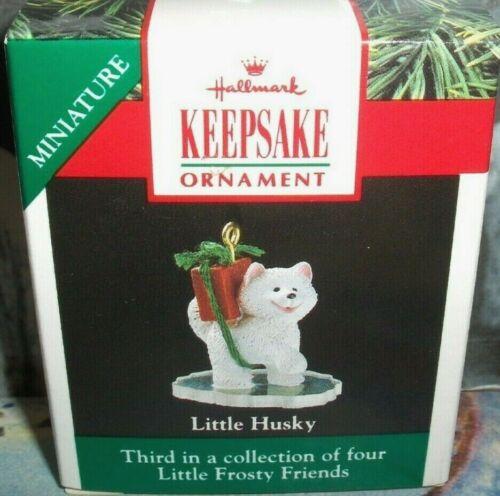 Little Husky`1990`Miniature- Little Frosty Friends,Series,Hallmark Ornament
