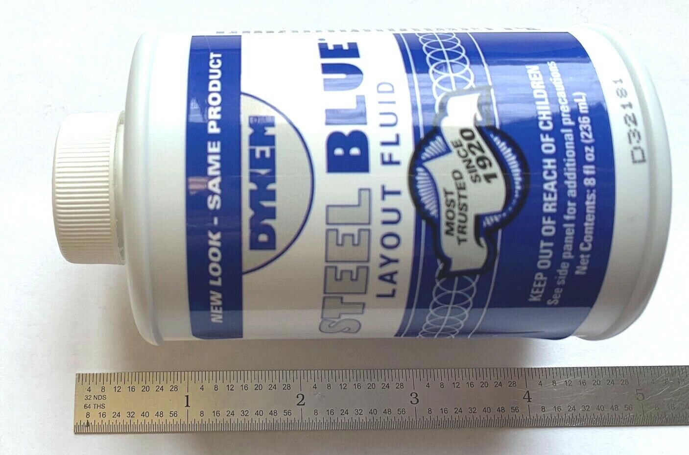 DYKEM STEEL BLUE LAYOUTSTAINING FLUID 8oz BRUSHINCAP 80400