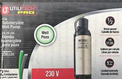 Utilitech Pro 4 1 2 Hp 230 Volt Stainless Steel Submersible Well Pump - New