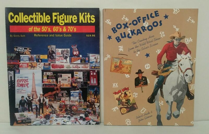 Lot Of 2 Collectible Reference Guides Figure Kits + Western Film Memorabilia SC