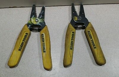 Lot Of 2 Klein Tools 11045 Wire Strippercutters For 10-18 Awg Stranded Wire