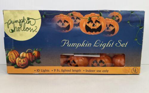 """Halloween Pumpkin String Lights Set 3"""" Pumpkin 10 Lights Strand 9"""
