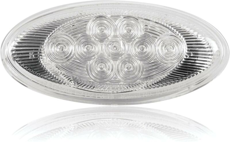 Maxxima M63122CH-YCL LED OVAL CHROME AMBER SIDE TURN/MARKERLIGHT for PETERBILT