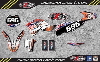 Full  Custom Graphic  Kit -AUSSIE PRIDE - KTM 125 SX SXF - 2007 / 2010 stickers