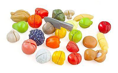 Casdon Childrens Kitchen Cut & Play Food 44 Piece Playset Toy
