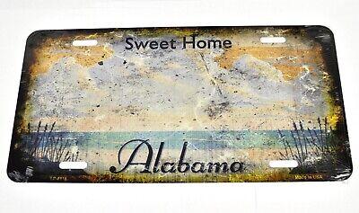 USA Sweet Home Alabama Old Style Nummernschild License Plate Deko Blechschild