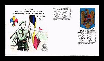 DR JIM STAMPS BOY SCOUTS CERCETASEASCA EXPOSITION ROMANIA COVER