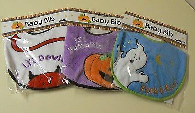 Ganz HALLOWEEN Baby Bib 3 varieties Peek A Boo - Little Devil - Little Pumpkin  (Halloween Pumpkin Variety)