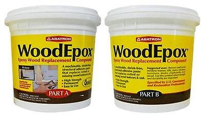 Abatron Woodepox Epoxy Wood Replacement Compound 2 Pints Kit
