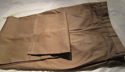 Men's Big And Tall Dress Pant Khaki Size 48 open hem 65 Poly 35 Cotton 4 Pocket Big And Tall Mens Dress Hose