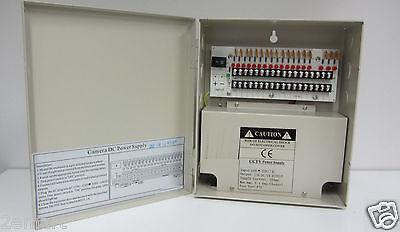 Power-box 18-port (CCTV Power Supply Box 18-Port Fused Outputs, 12V DC, 10Amp)