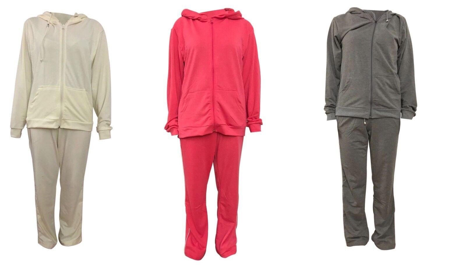 Women's casual sportswear tracksuit Top & Bottom 2Pcs Set S-XL