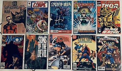 10 Comics Thor Excalibur Spider-Man Speed Racer Hard Corps Namor and more