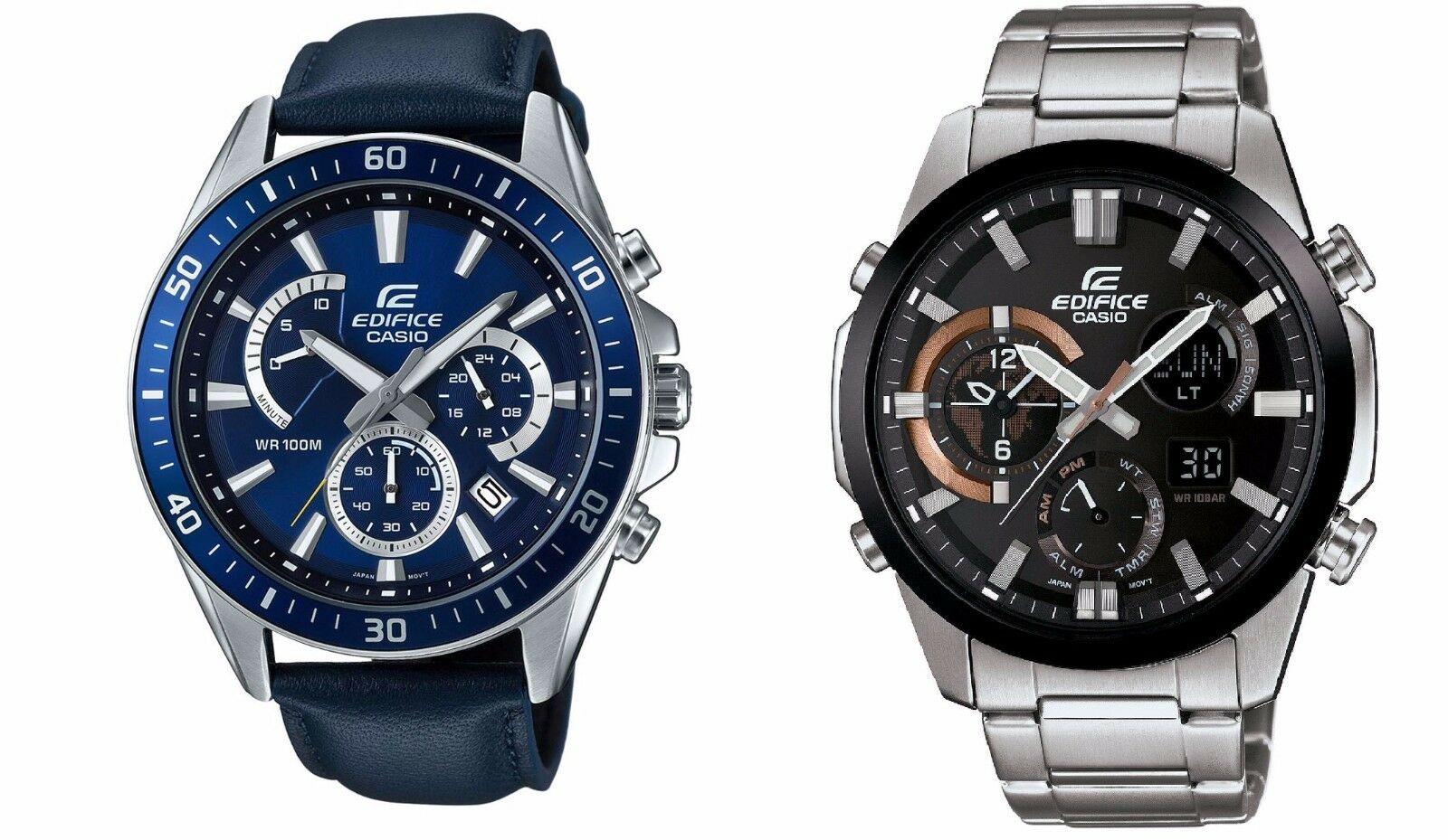 Mens Watches - Casio Edifice Men's Quartz Chronograph Date Display Sport 45mm Watch