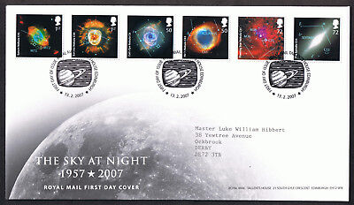 Sky at Night 2007 - First Day Cover - SG2709 to SG2714 Edinburgh Tallents Cancel