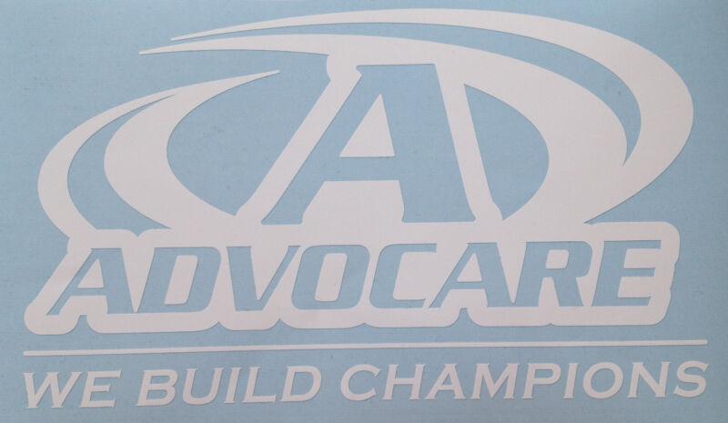 White AdvoCare Decal 2426