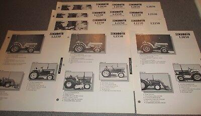 Vintage Kubota Competitive Comparison Guide L Series L2250 L2550 L2850 Tractors