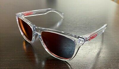 Oakley Frogskins Asian Fit Crystal Clear w/ Torch Iridium Sunglasses  OO (Sunglass Frogskin)