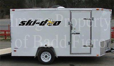 2 Custom Ski-doo Huge Vinyl Decals 60x11 Trailer Snowmobile Stickers New Bee