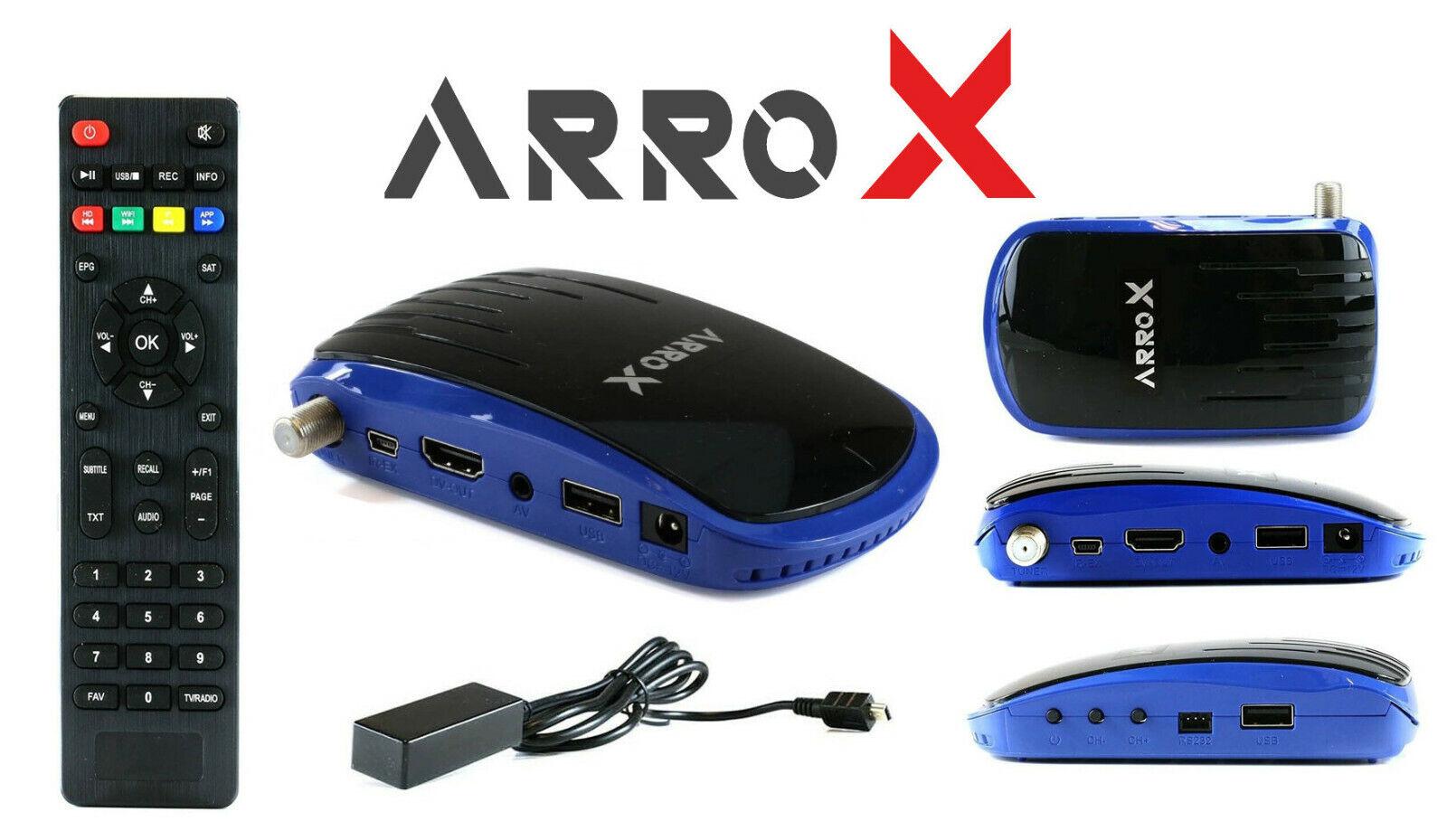 Arrox Ultra 7000 Slim Mini HD Fta Full HD DVB-S2 Sat Receiver USB HDMI