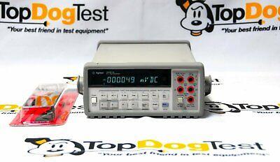 Hp Agilent Keysight 34401a 6 Dmm W5519a Test Leads Warranty And Cal Cert