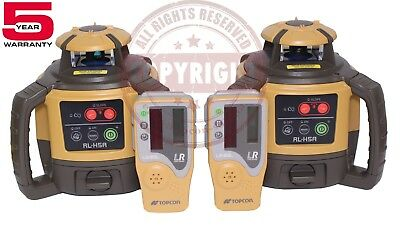 2 New Topcon Rl-h5a Self-leveling Rotary Grade Laser Level Slope Transit
