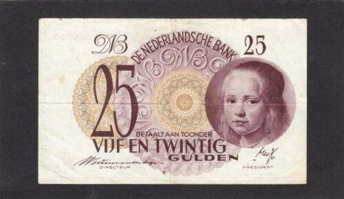 Netherlands 25 Gulden P-77 1943   F+/ VF