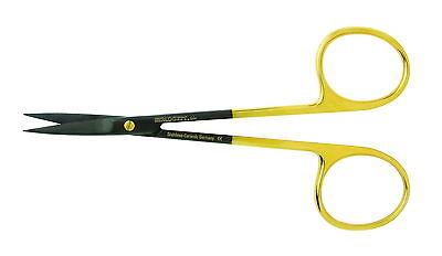 Miltex Padgett Iris Ceramic Scissors 4-12 Curved Tungsen Carbide Pm-5sc306ctc