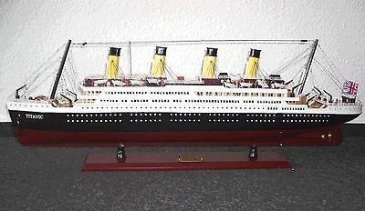Titanic Schiffsmodell Modell Schiff Handgefertigt 80cm fertig montiert, Holz