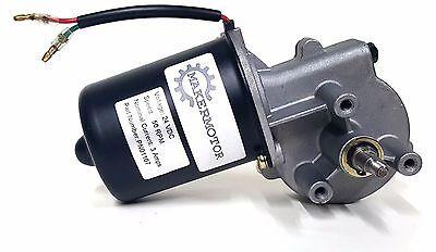 Makermotor 10mm 2-flat Shaft Electric Gear Motor 24v Low Speed 50 Rpm Dc