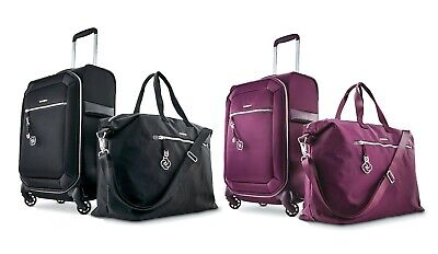 "Samsonite Carry-On Luggage Set 2 pc Softside 20"" 22"" Bags Magnifique Journee"