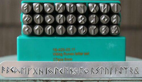 SupplyGuy 6mm 27 Stamp Viking Rune Metal Design Punch Set SGCH-Viking
