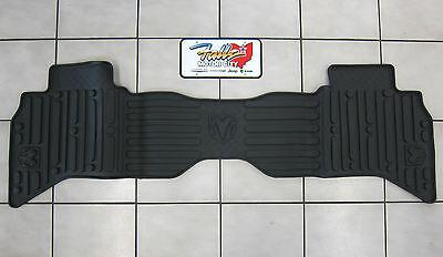 2011-2012 Dodge Ram 1500 Quad Cab Rear All Weather Black Rubber Slush Mat OEM