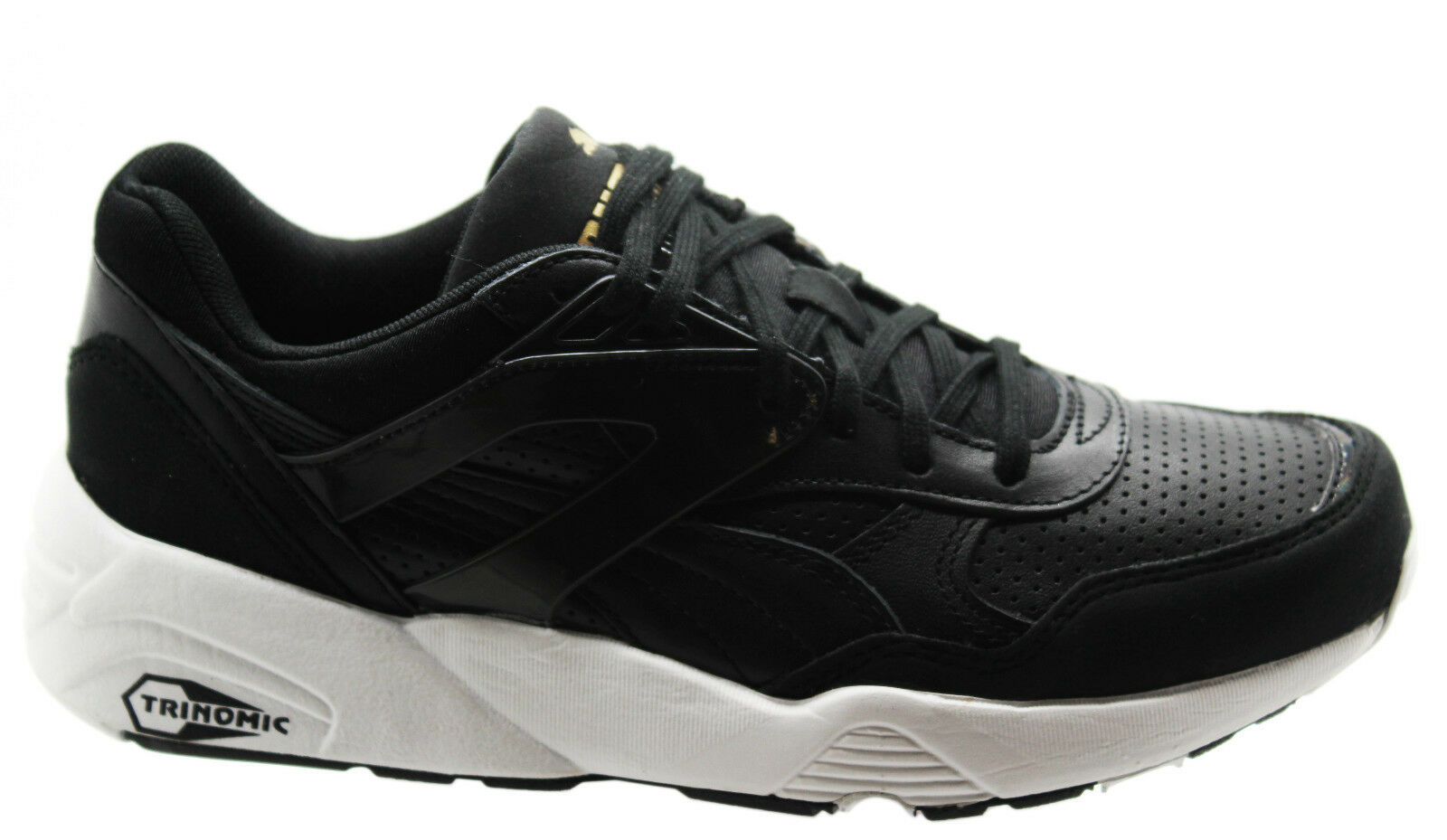 27a46f023b67 Puma Trinomic R698 Core Leather Men Trainers Running Shoes Black ...