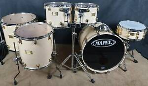 Mapex Orion Classic Maple-Burl 6pce shell pack 24-kt gold plated lugs