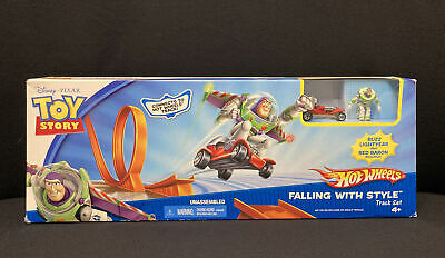Toy Story Hot Wheels Falling with Style Track Set Buzz Lightyear Red Baron 2007