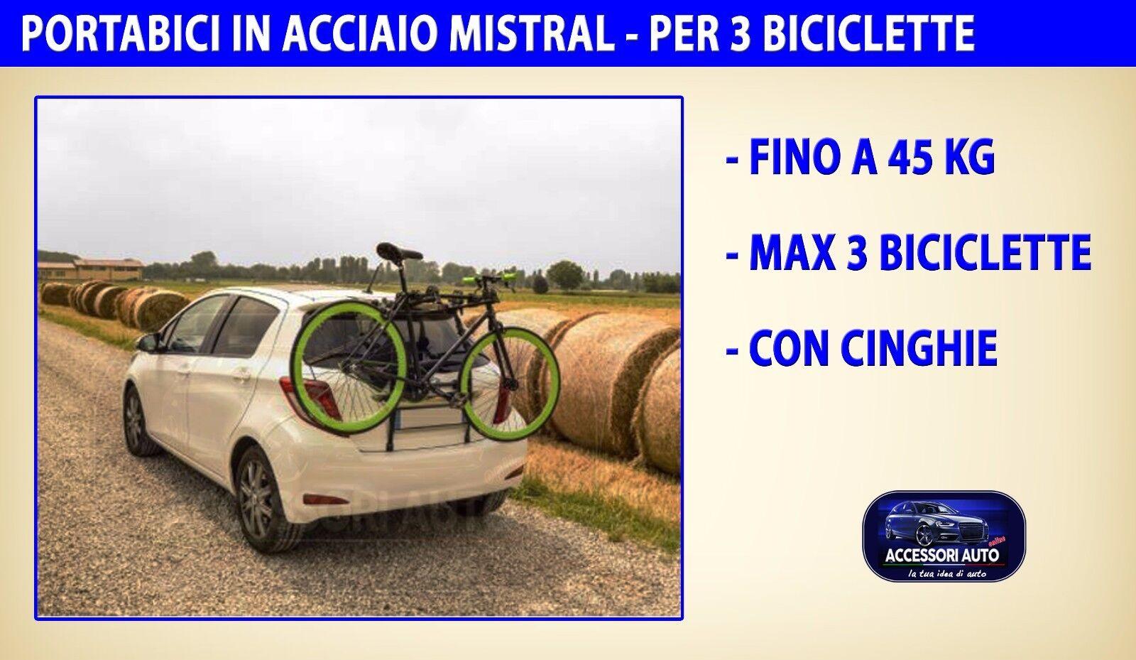 Portabici posteriore per Seat Altea XL dal 2009 in poi supporto biciclette kit