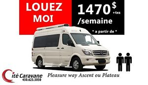 2019 Pleasure-Way LOCATION CLASSE B 19-22 pieds ! PLEASURE WAY